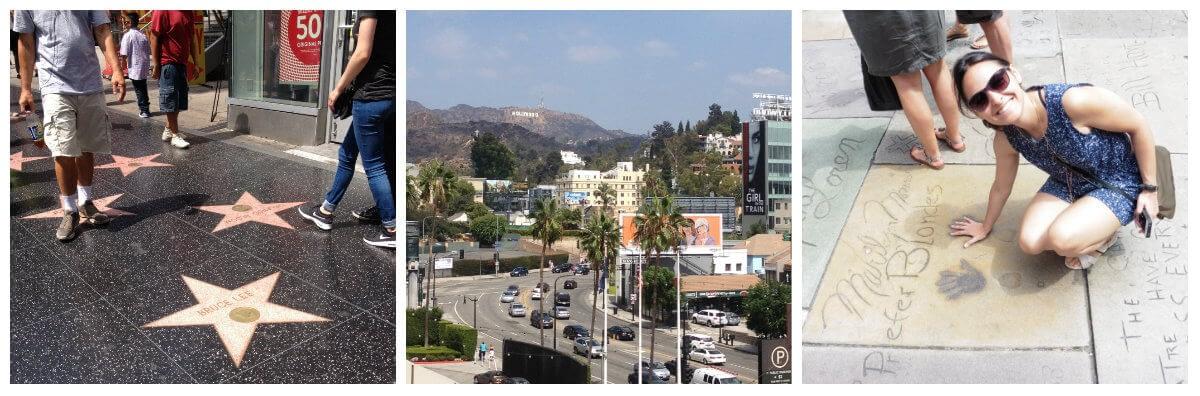 Hollywood Boulevard paseo de la fama